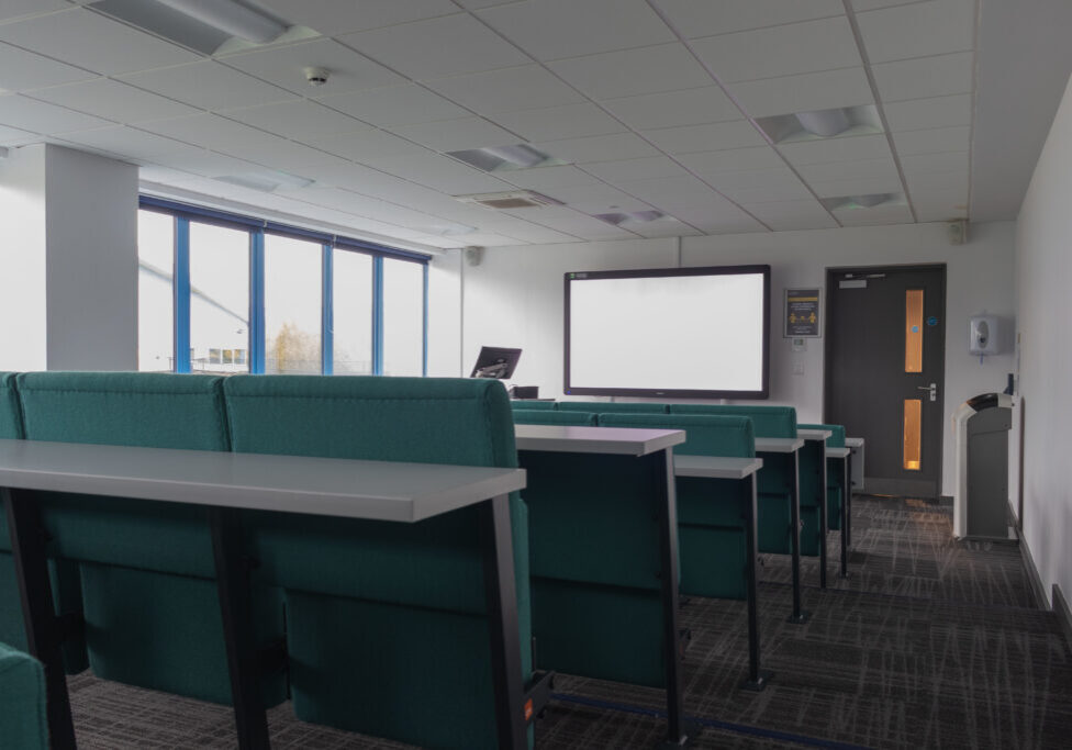 MANCHESTER, UNITED KINGDOM - Oct 14, 2020: Images of Bright Modern Classrooms/lecture theatres